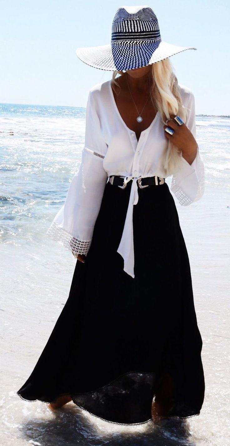 Gypsy Lovin Light Black, White And Silver Jewelry Beachwear Inspo                                                                             Source