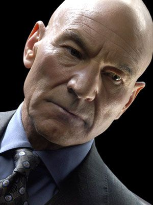 Patrick Stewart's stentorian voice makes me want to obey his every command.  And he knows how to carry a bald pate doesn't he?