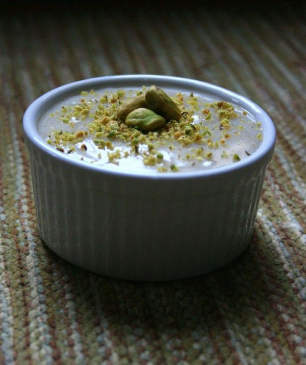 Cardamom & Rose Water Custard | Firnee | Recipe | Pistachios ...