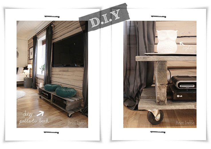Min Lille Interiørhule: D.I.Y tv-benk og tavle
