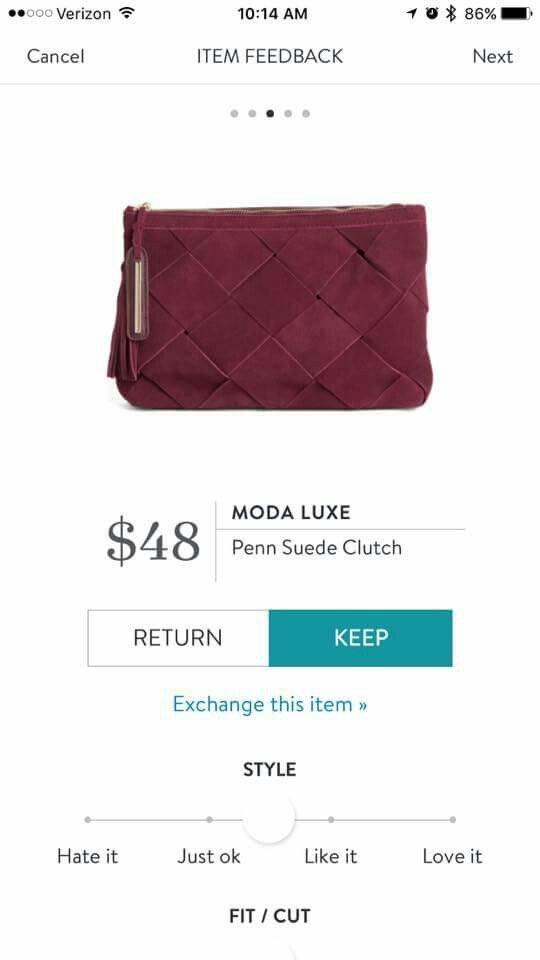 I absolutely love this clutch! But I already have a clutch and a purse in this color so I would love something different!