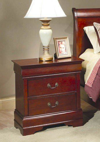 Strasburg Cherry Nightstand with Two Drawers. Two of the on each side of the bed.