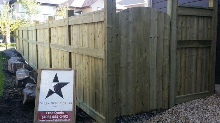 4x6 Pressure Treated Custom Fence 2x6 Framing With Top