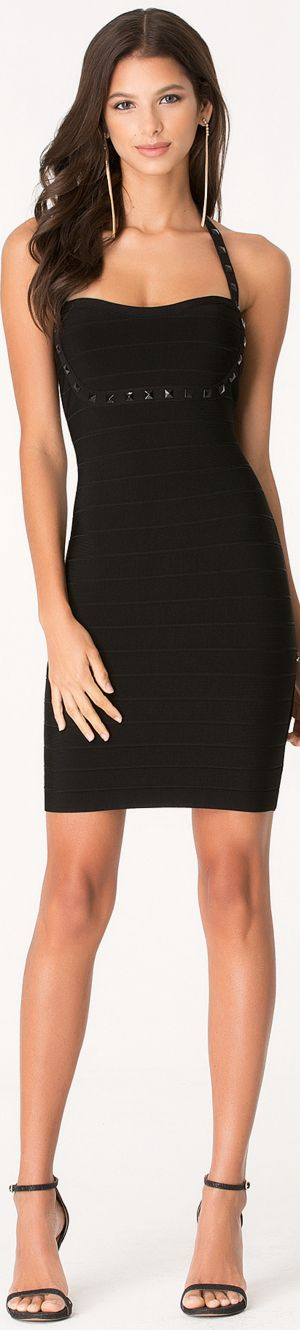 Black short #cocktail dress. women fashion @roressclothes closet ideas