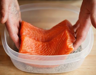 "With only salt, sugar, smoky Lapsang souchong tea and your refrigerator, you can make ""smoked"" salmon at home in just a few hours"