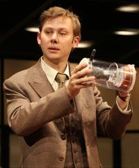 (Pictured) Jimmi Simpson as Philo T. Farnsworth Photo © Joan Marcus, 2007