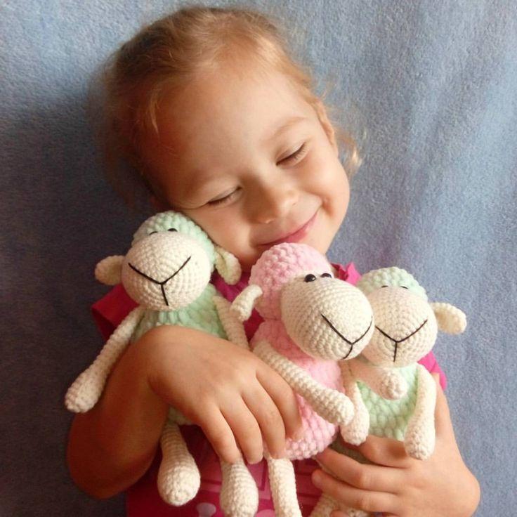 Amigurumi ovejas patrón de crochet libre