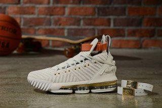 b7a1d4db5eb30b Nike LeBron 16 Xvi HFR Harlem s Sail White Light Bone BQ6583-100 Men s  Basketball Shoes James Shoes