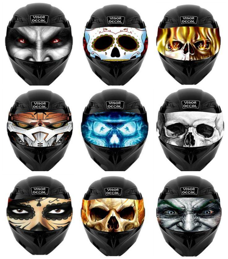 Best Motorcycle Helmet Accesories Images On Pinterest - Motorcycle helmet visor decals