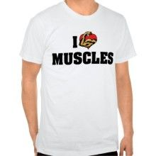 "Men's Bodybuilding T-Shirt With Text: ""I Love Muscles"""