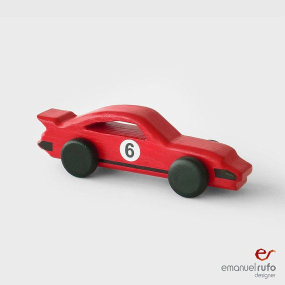 red wooden toy car wooden car for kids boys classic race car inspired by ferrari 250gto