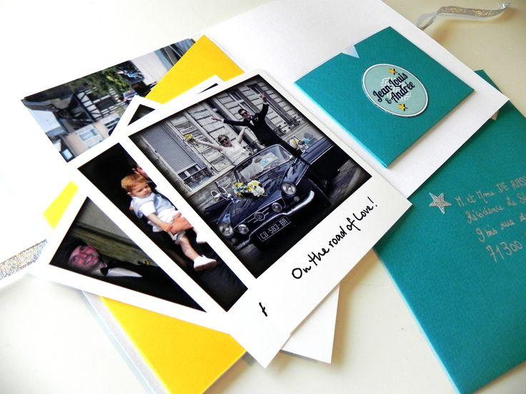 interieur remerciement mariage personnalis bleu et jaune. Black Bedroom Furniture Sets. Home Design Ideas