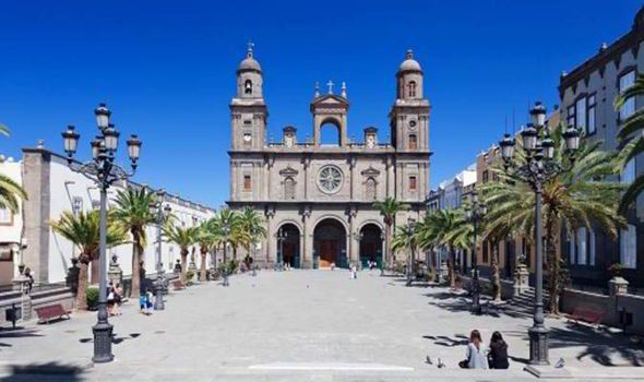 ROMANTIC STOP: Sip a coffee in the shade of Santa Ana in Las Palmas' old town