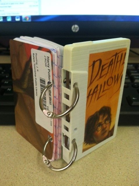 Teen Tech Week - DIY How to upcycle a discarded cassette tape into a mini journal.