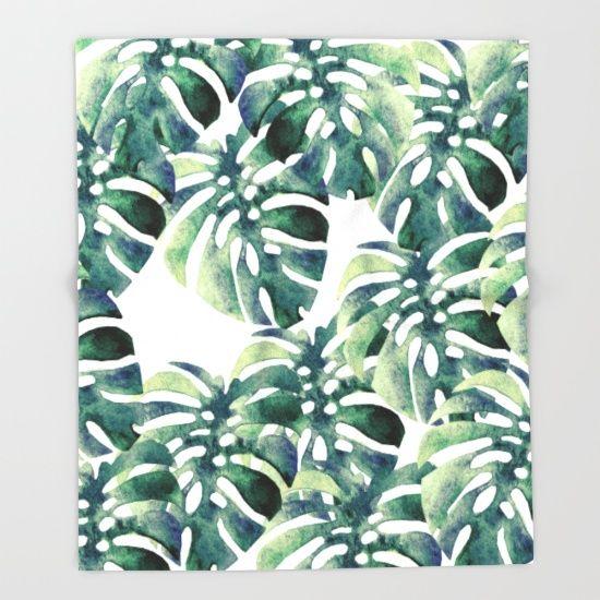 https://society6.com/product/monstera-pattern68685_throw-blanket?curator=bestreeartdesigns.  $49