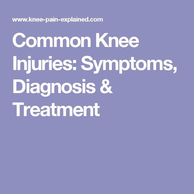 Common Knee Injuries: Symptoms, Diagnosis & Treatment
