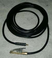 35' welding lead with Heavy-duty Ground clamp
