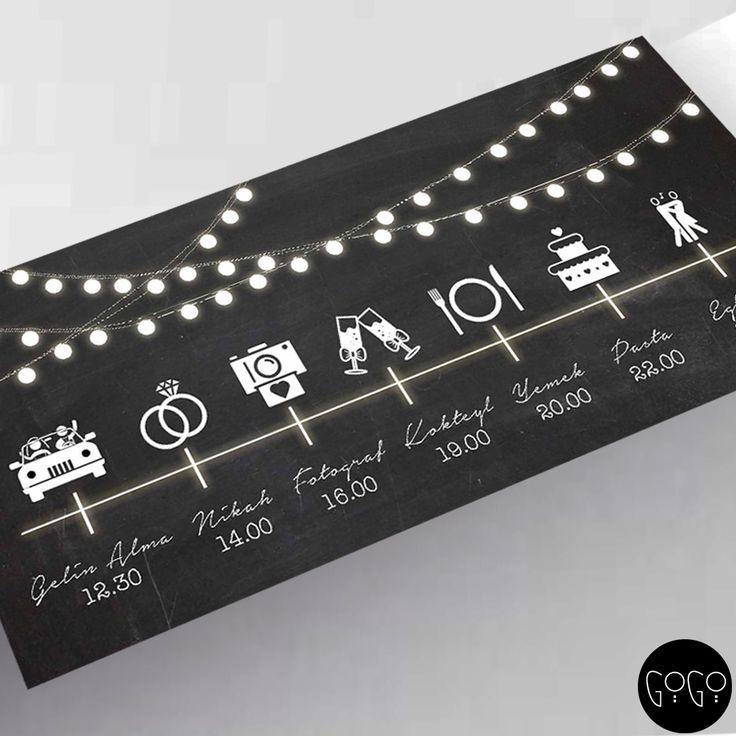Twinkle Schedule // Düğün Plan Kartı  // Wedding Concepts // Let us to create your own invitation.. Hayallerinizdeki düğünlere yakışır davetiye ve davet kartları...