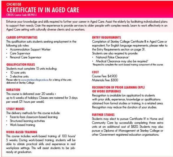 Best Certificate Iii In Aged Care  Australian Residents Images