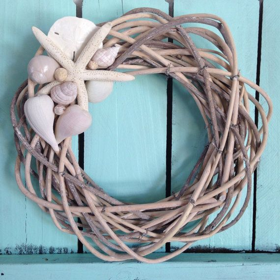 Beach Wreath - Reed Beachy Wreath-Coastal Wreath-The Hamptons Wreath-Annie Gray Design-New England Wreath-Florida-Starfish Decoration-Shells