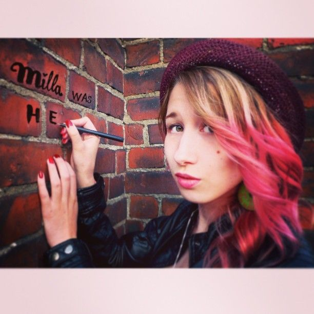 I was here #lovemilla #tag #wall #me #finnishgirl #travelling #pastelhair #iwashere