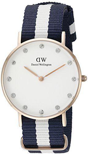 Daniel Wellington Damen-Armbanduhr XS Classy Glasgow LADY ROSEGOLD Analog Quarz Nylon 0953DW - http://uhr.haus/daniel-wellington/ros-gold-daniel-wellington-uhr-classy-glasgow-neu-2