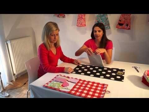 """Zierstoff Wickeltasche """"MIA"""" - für Nähanfänger - Schnitt Anleitung auf Zierstoff.de - YouTube"""