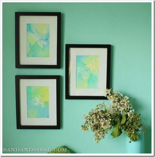 watercolor artWatercolor Art, Crafts Ideas, Easy Watercolors, Watercolors Art, Watercolors Resistance, Easy Projects, Resistance Art, Art Tutorials, Water Colors