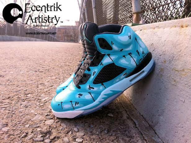 more photos 18c2a 69c2b ... Featuring various shades of Blue done up in a colorful abstract art  style is Ecentrik Artistry  boxing lime green jordan shoes  Air ...