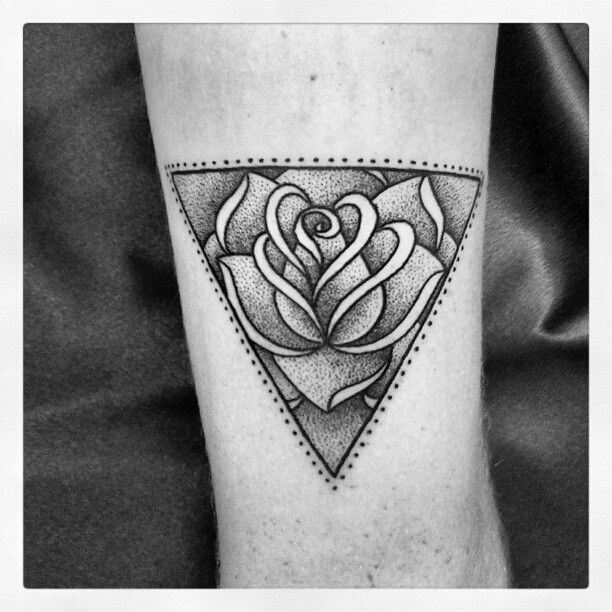 Rose In Triangle Tattoo http://tattoos-ideas.net/rose-in-triangle-tattoo/