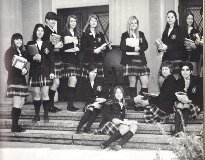 Catholic school girls uniform tartan plaid 1970   If you wer…   Flickr
