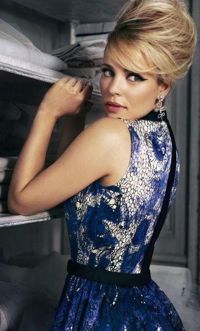 Beehive hair ala Rachel McAdams @Molly Simon Simon @BizarreFoods you will own this look!