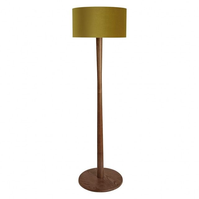 Simply Styled Pole Walnut Stained Oak Floor Lamp Base Paired With The Olive Grande Pink Bronze Shade Br Exclusiv Floor Lamp Wooden Floor Lamps Floor Lamp Base