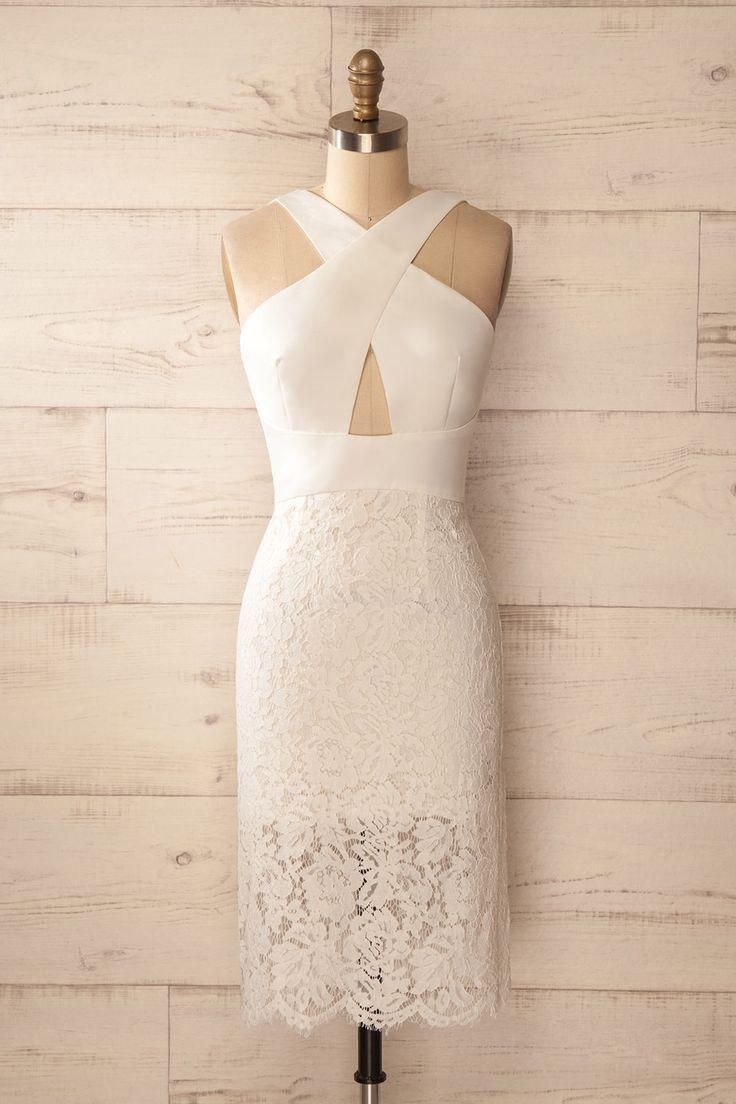 Ojala Douceur - Mid-length fitted sleeveless white dress