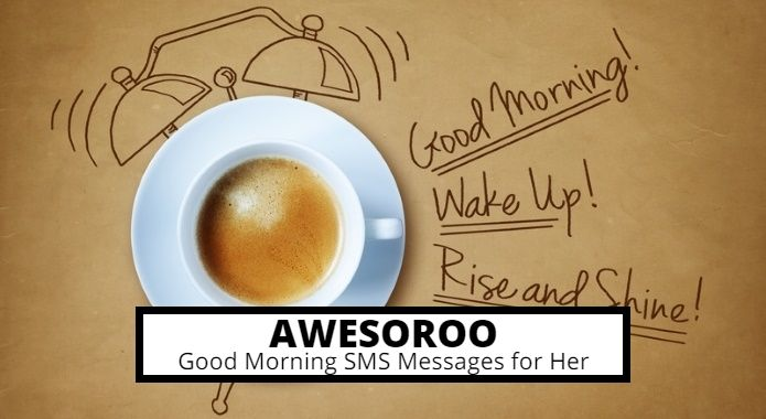 cute good morning sms with coffee