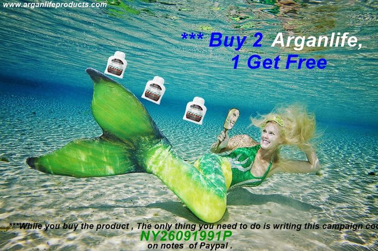 "Ocean Campaign On Pinterest  ""The Exclusive Offer is Buy 2, get 1 for free"" has began. The campaign period will be continuing till 30.06.2015. You can have 3 products for  2 product price. ***While you buy the product , The only thing you need to do is writing this campaign code NY26091991P on notes  of Paypal .  #campaign #free #buy #product #life #arganlife #hair #mermaid #ocean #shampoo #hairloss #vine #GIF #buy #shopping #beauty #vine"