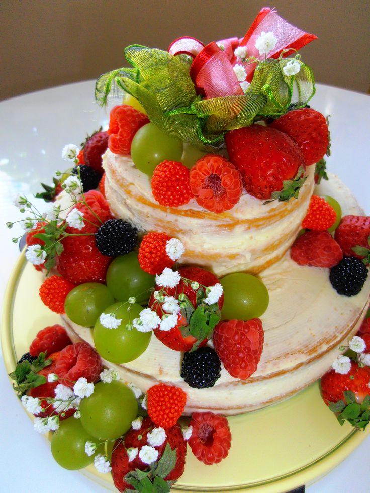 ovocný dort nahatý