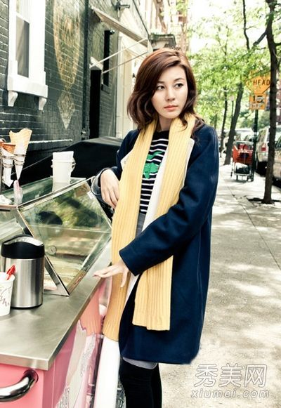 Like the hair and clothes  (Korean Actress Kim Ha Neul Fashion)