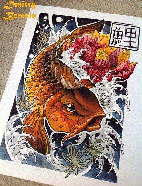 Эскизы тату. Япония. Больше интересных эскизов в нашем сообществе: http://vk.com/Art_Tendencies