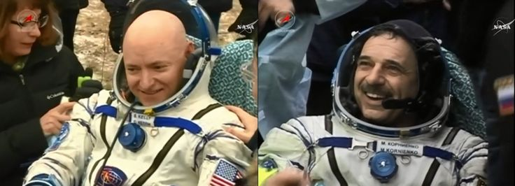 NASA Astronaut Scott Kelly Returns from a Historic Year in Space on Station