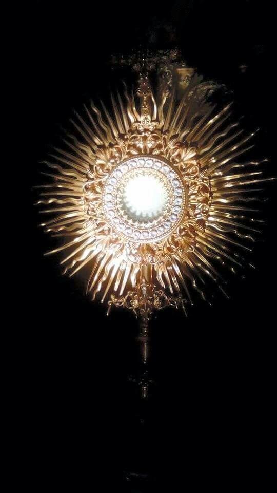 Visita a Jesús Sacramentado  Oh Prisionero de Amor, Tú aquí estás hambriento y sediento, y ciertas almas no hacen sino ofrecerte un alimento nauseante, frío, tibio e inconstante... ¡no obstante que sean almas a Ti consagradas Oh Jesús, tantos actos de reparación quiero hacerte, por cuantas son las llamas que contiene el fuego, y por cuantos son los rayos de luz que contiene el sol...