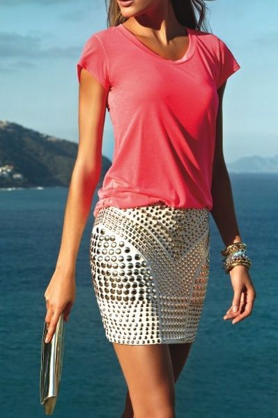 Refined Style - Studded Skirt