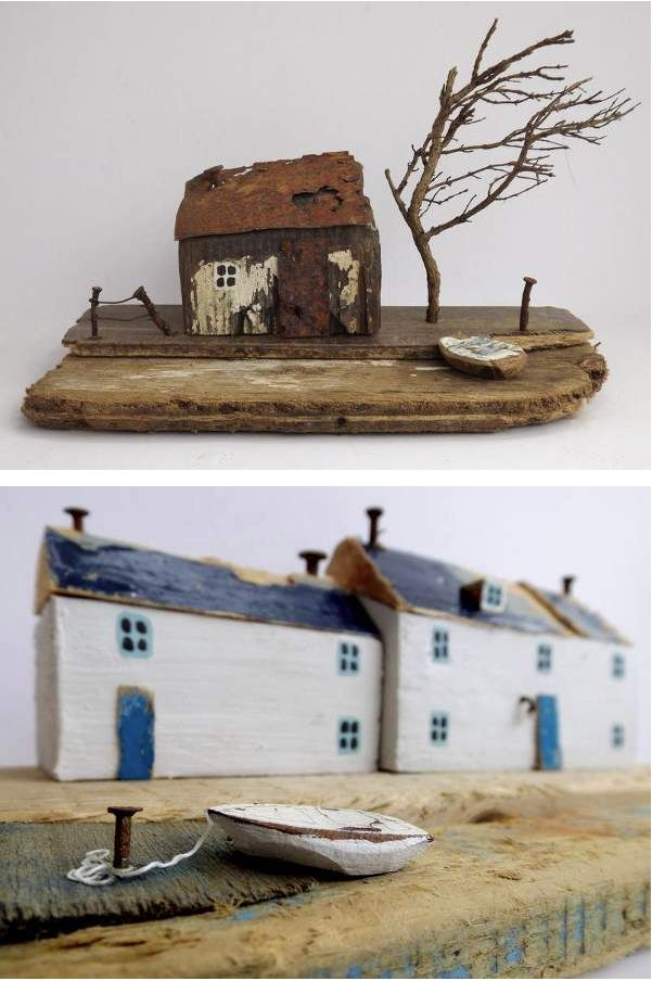 Another look at the cute little driftwood sculptures by Kirsty Elson