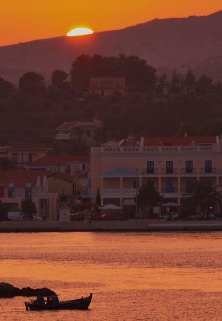 #sunset #kefalonia #lixouri #fishingboat