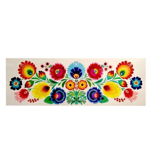 "Lowicz Kodra 23"" x 8"" (59cm x 20cm) - Floral Rectangle"