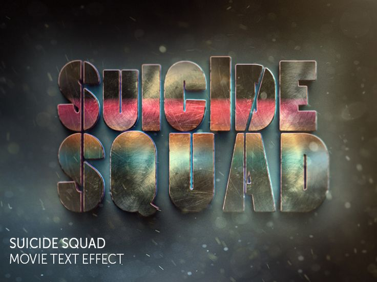 Suicide Squad Movie Text Effect by Leonid Nikolaev