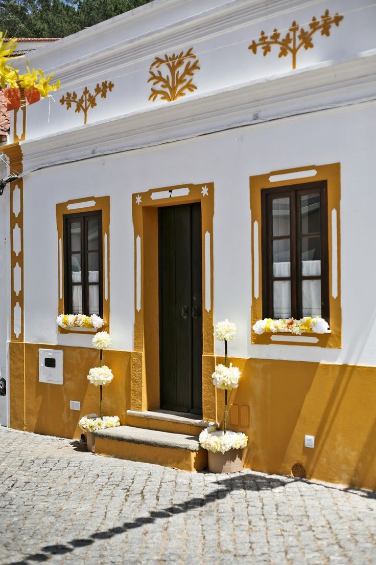 The typical small houses of Alentejo - Odeceixe - Portugal