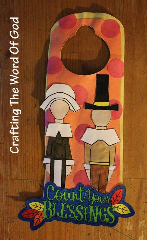 Count Your Blessings Doorknob Hanger Thanksgiving Crafts