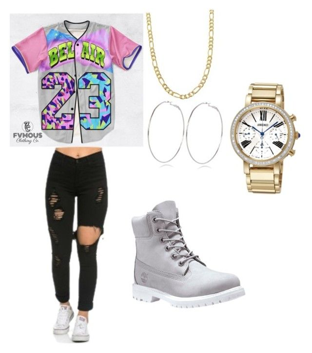 """Untitled #6"" by shadaeluckett on Polyvore featuring Fremada, Timberland, River Island and Seiko"