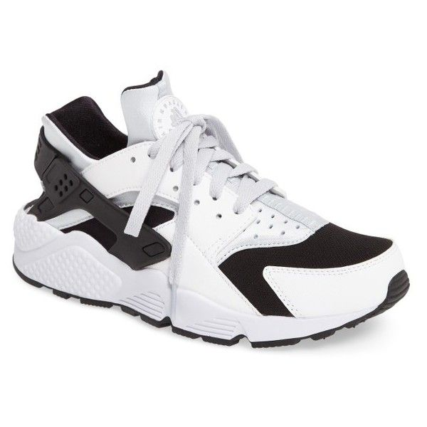 Men's Nike 'Air Huarache' Sneaker ($110) ❤ liked on Polyvore featuring men's fashion, men's shoes, men's sneakers, nike mens shoes, nike mens sneakers, mens shoes, mens retro shoes and mens retro sneakers